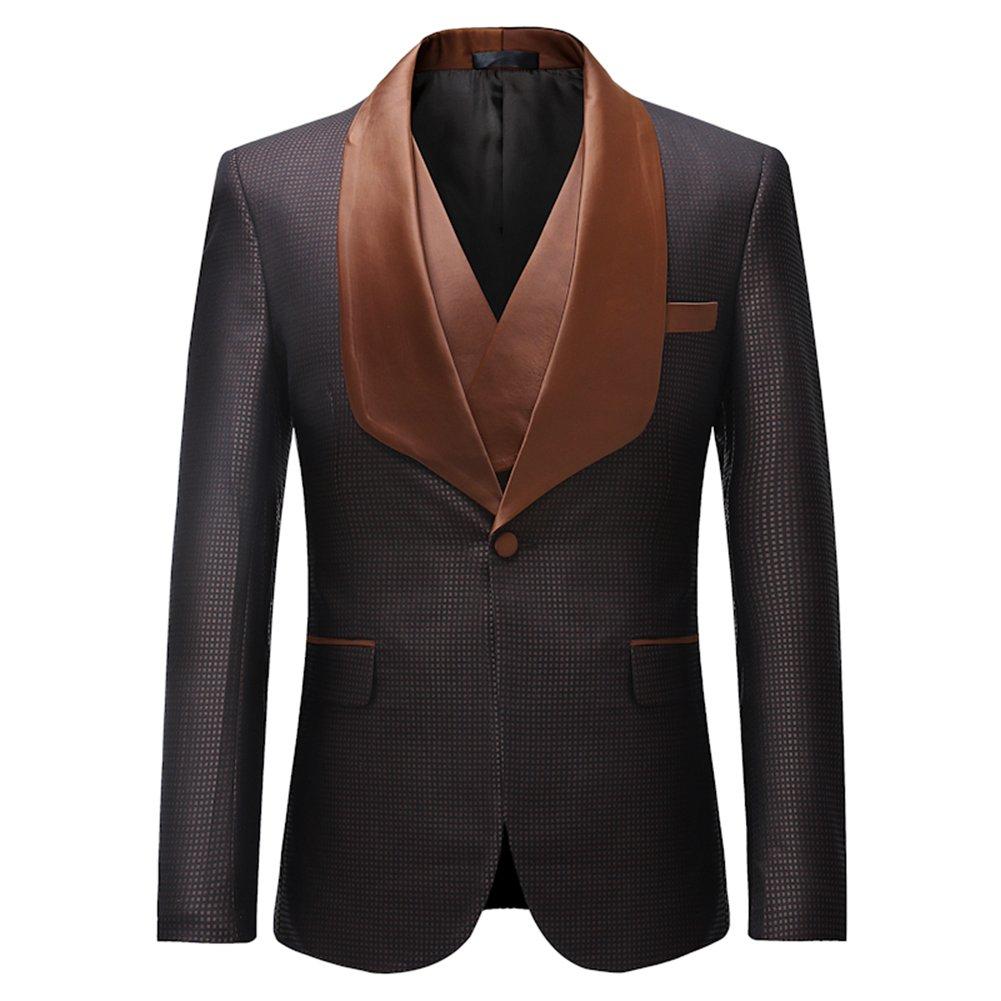 Sliktaa Mens Suits 3 Pezzi Slim Fit Smoking da Smoking per la Cena Giacca Giacca Gilet Pantaloni