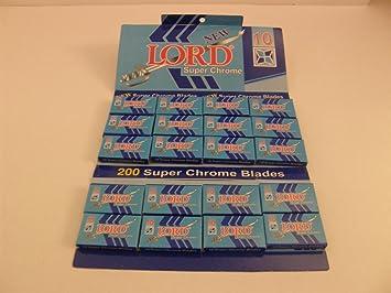200 Lord Double Edge Safety Razor Blades Super Chrome