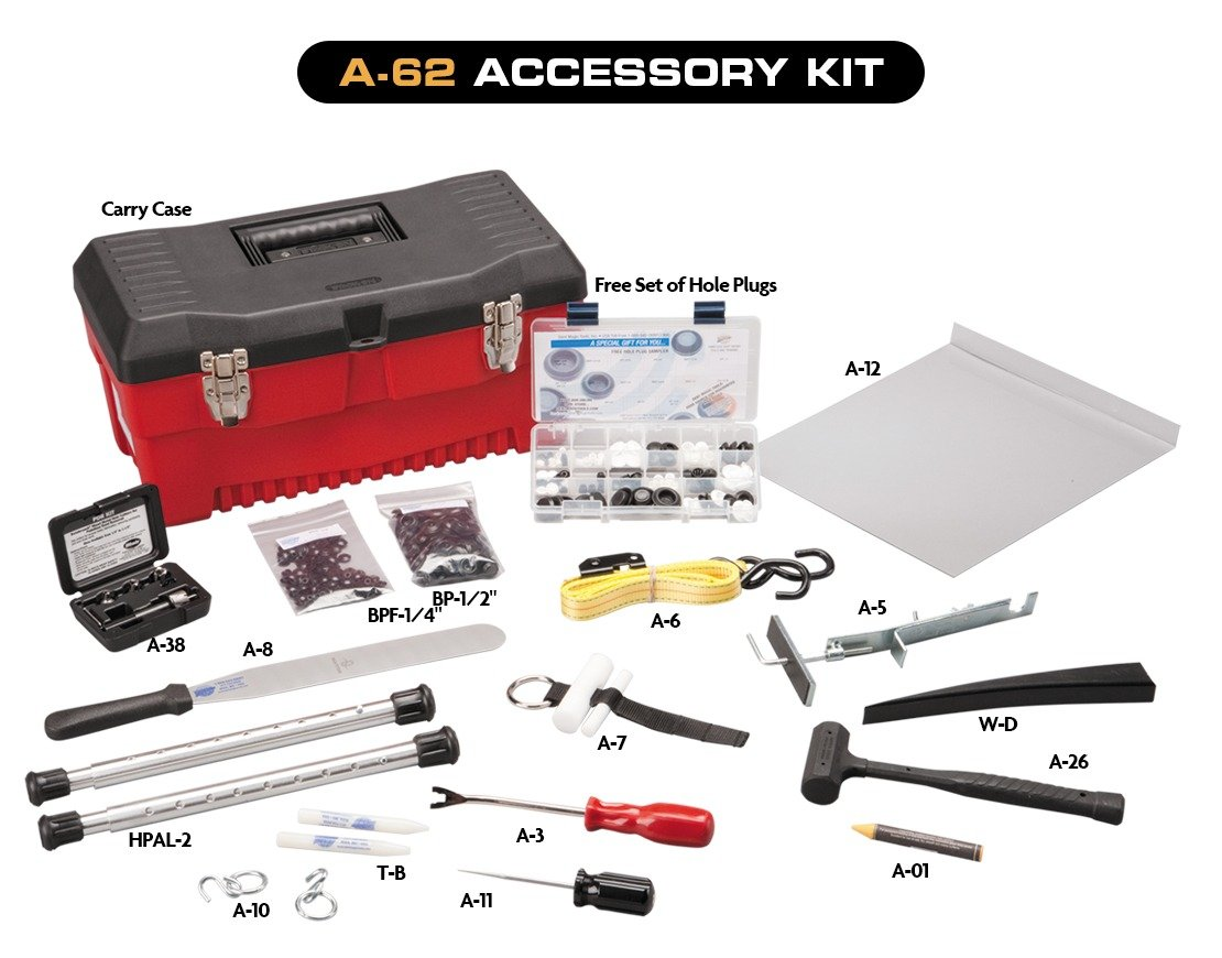 Dent Magic 31 Piece Intermediate Tool Set, Accessory Kit, and PDR LED Light