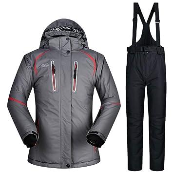ZXGJHXF Traje de esquí de Invierno Chaqueta y pantalón de ...