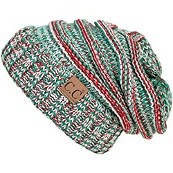 Funky Junque H-6100-6208 Oversized Slouchy Beanie - Christmas Mix