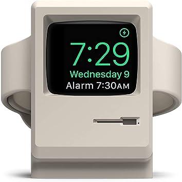 【elago】 Apple Watch 対応 充電 スタンド シリコン 充電ドック アクセサリー ノスタルジック レトロデザイン [ AppleWatch SE & Series6 Series5 Series4 40mm / 44mm & Series3 Series2 series1 38mm / 42mm アップルウォッチ 対応 ] W3 STAND ホワイト
