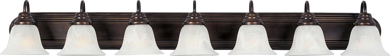 B000E0QFSC Maxim 8016MROI Essentials in Oil Rubbed Bronze Finish – Damp Rated Vanity Lights – 7 Lightings Lamp Set. Wall Lighting 61J6ccpGMfL.SL1500_