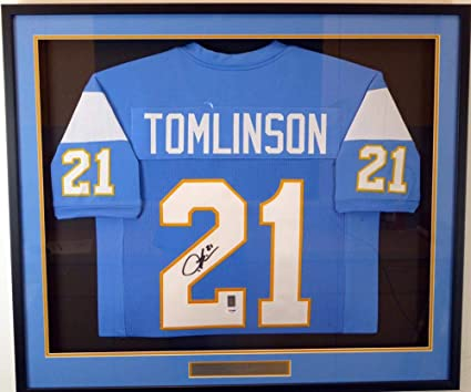 cheaper 3f542 6a67b LaDainian Tomlinson Signed Jersey - Framed Blue Stock ...