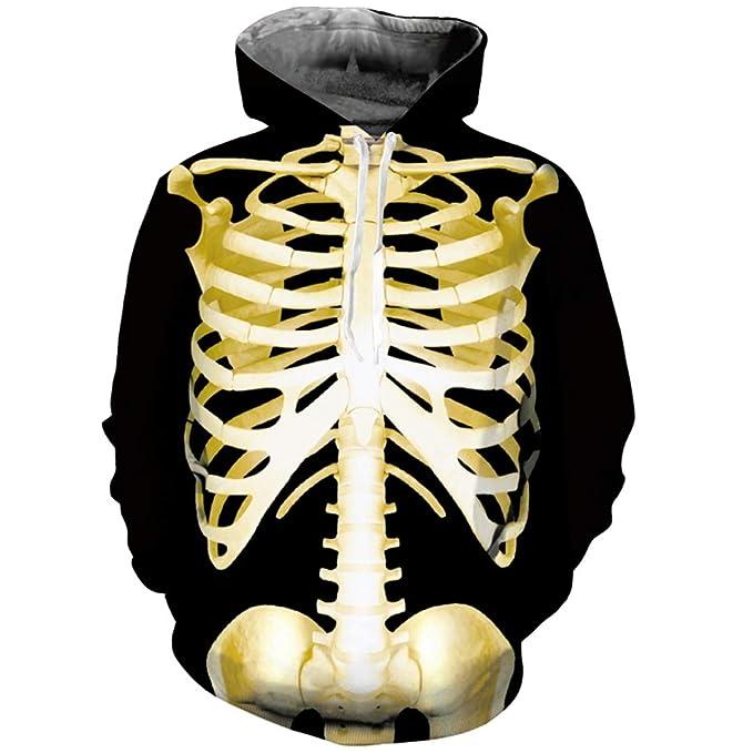 Amazon.com: Skull 3D Hoodie Sweatshirts Men Women Skeleton Autumn Tracksuit Hooded Tops: Clothing