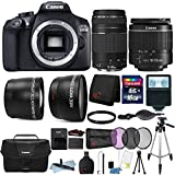 Canon EOS 1300D 18MP Built-In WIFI DSLR Camera with 18-55mm Lens, 75-300mm Lens, Canon 100ES Case and 16GB Ultimate Accessory Bundle