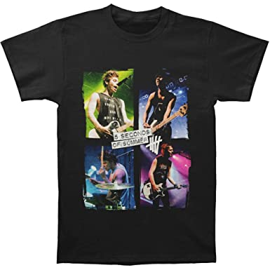24c359feacec Amazon.com  5 Seconds of Summer Shirt Live Color 5SOS Shirt  Clothing