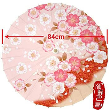 Learain Sombrilla de Papel de Aceite Color Rosa de la Serie Warm para Boda China Japonesa