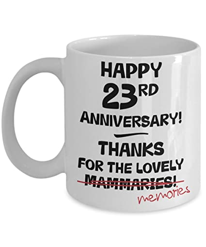Amazon 23rd Wedding Anniversary Gift Mug For Her Novelty Idea