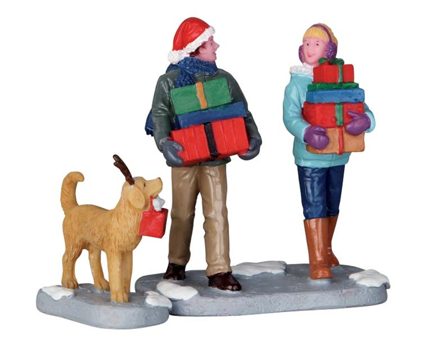 CHRISTMAS PARTY Set da 2 Personaggi Lemax Cod 62445