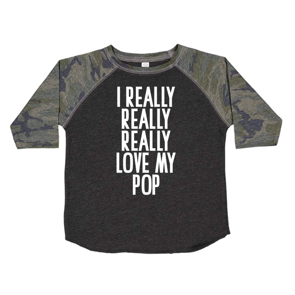 I Really Really Really Love My Pop Toddler//Kids Raglan T-Shirt