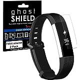 TECHGEAR® [2 Pack] Protection Écran pour Fitbit Alta HR [ghostSHIELD] Film de Protection Souple en TPU avec Protection Totale de l'Écran Compatible pour Bracelet de Remise en Forme Fitbit Alta HR