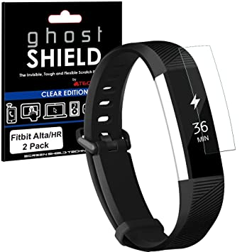 TECHGEAR® [2 Pack] Protection Écran pour Fitbit Alta HR [ghostSHIELD] Film