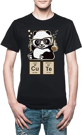 Vendax Química Panda Descubierto Linda Camiseta Hombre Negro: Amazon.es: Ropa y accesorios