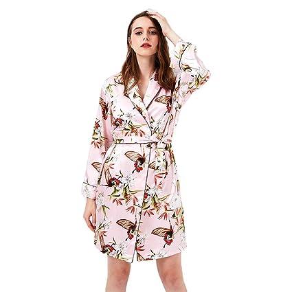 Forall-Ms Batas Estilo Kimono para Mujer, Camisón De Dama De Honor ...