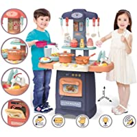 TABU TOYS WORLD Little Chef Kids Kitchen Play Set with Light & Sound Cooking Kitchen Set Play Toy (Random Color)