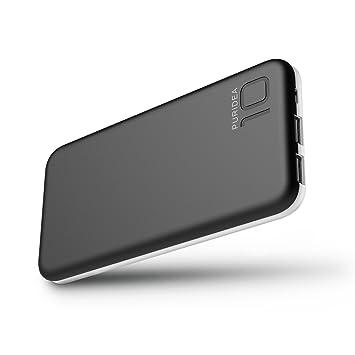 10000 mAh Batería Externa, 2 Puertos COOODI Cargador Móvil Power Bank Portátil para iPhone, iPad, Samsung y Otros Dispositivos, Negro