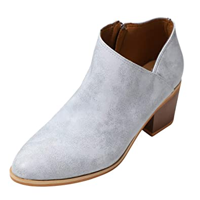 Talons Cuir Femme Ankle Chaussure Pu Bloc Bottes Minetom Bottines yvmY7bI6gf