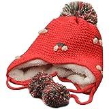 feiXIANG Cappello del Bambino Bella Ragazza Bambini Bambino Maglia Spire Soft Hat + Sciarpa,Lavorato a Maglia