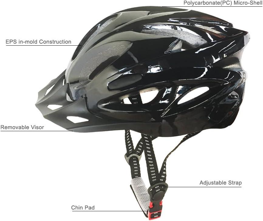 Atmungsaktiver Fahrradhelm mit eingegossener Konstruktion MTB Rennradhelm für