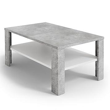 Vicco Couchtisch Beton Weiss 100 X 60 Cm Wohnzimmertisch