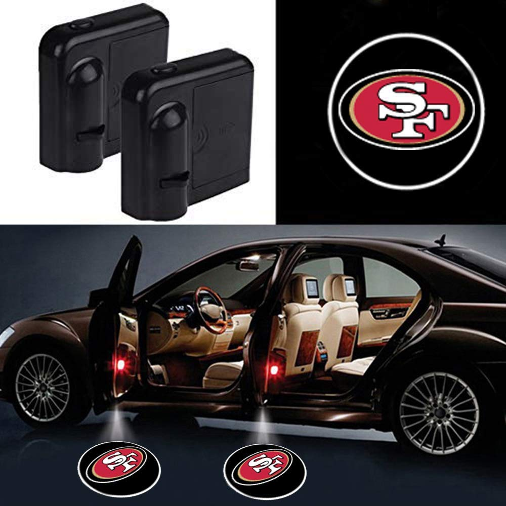 2Pcs Car Door Led Welcome Laser Projector Car Door Courtesy Light for Pittsburgh Steelers Suitable Fit for all brands of cars Pittsburgh Steelers