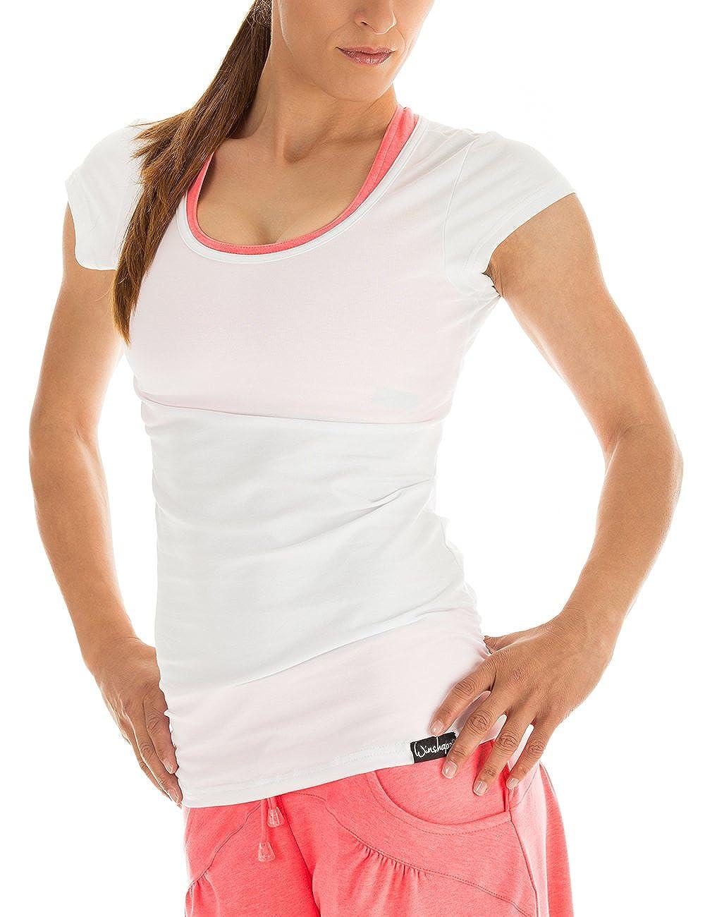 Winshape WTR4 - Camiseta de Yoga o Entrenamiento para Mujer (diseño de Manga Corta)