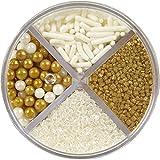 Wilton 710-1260 Gold Pearlized Sprinkles Mix