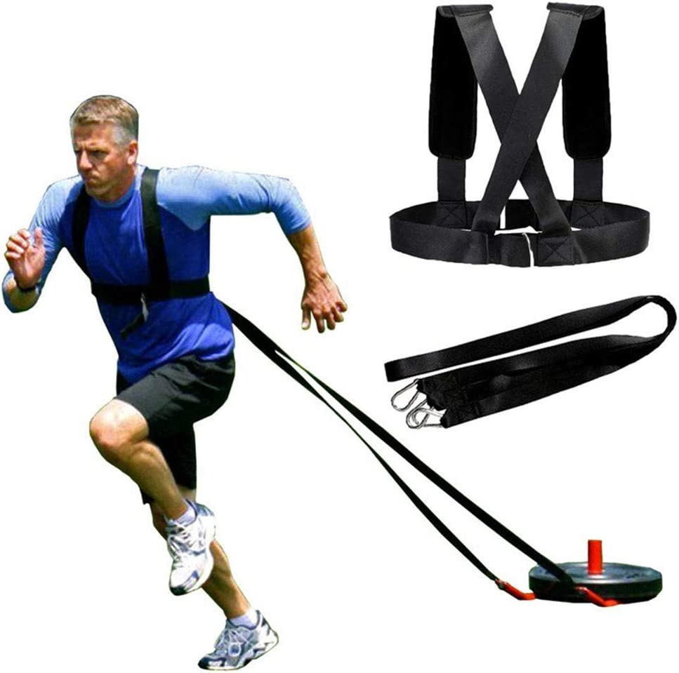 Strength Training Straps Power Speed Sled Harness Pull Belt Resistance Trainer