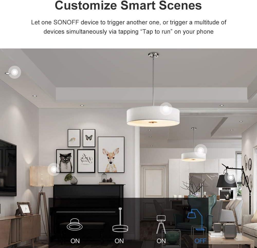 petite bo/îte SONOFF Interrupteur intelligent mini DIY fonctionne avec Google Home // Nest IFTTT et Alexa t/él/écommande Wi-Fi support interrupteur externe