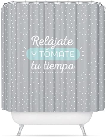 dcasa - Cortina de baño original diseño frase