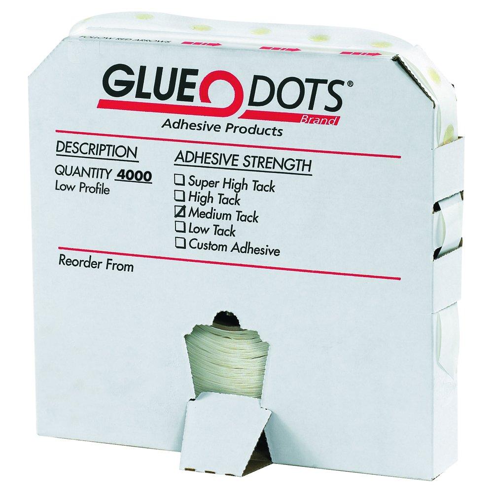 Glue Dots 1/2'' - Medium Tack - Low Profile Glue Dot, Pack of 4000 (GD102) by Glue Dots