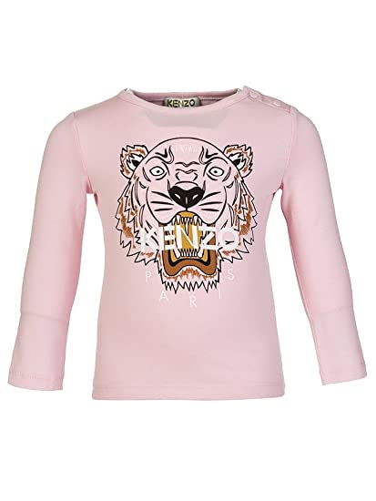 cfb8c904660ae Kenzo Kids Tiger Long T-Shirt Girls Light Pink KK10018 11 (14A)   Amazon.co.uk  Clothing