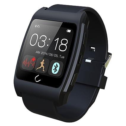 """EasySMX 1.44"""" Bluetooth Smartwatch con el Sensor Cardíaco Reloj Inteligente para iPhone Samsung iOS Android"""