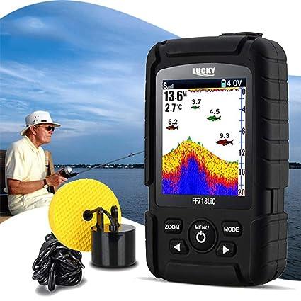 HL Buscador de Peces portátil, 100 m con Cable sonda buscador de Profundidad Señuelos de
