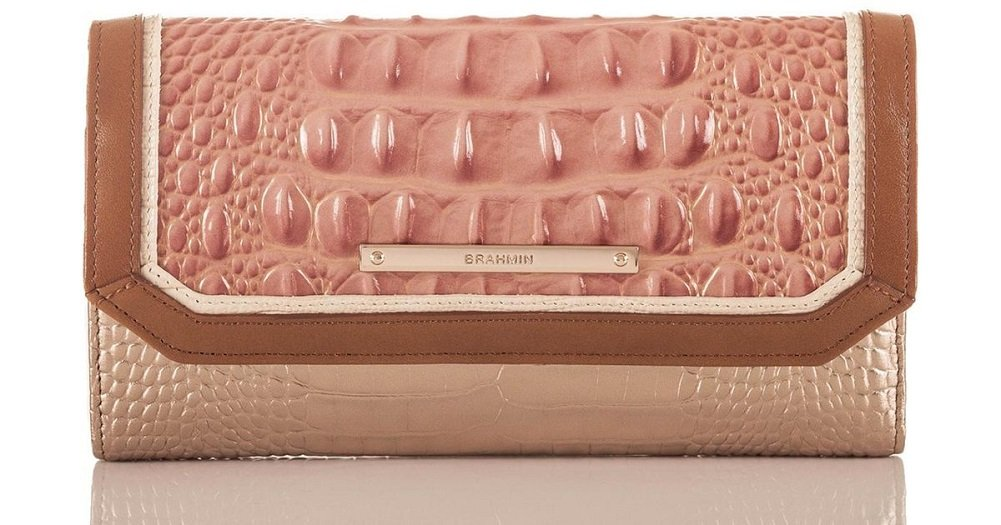 Brahmin Women's Soft Sandshell Varadero Leather Checkbook Wallet by Brahmin