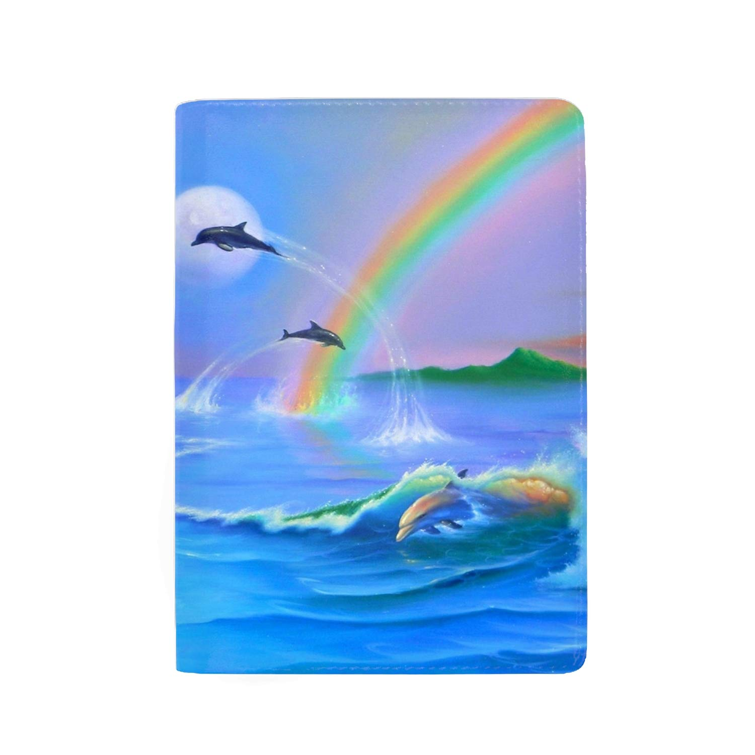 RFID Blocking Passport Holder Theft Proof Leather Wallet for Men /& Women 5 Slots The Snowmans Smile