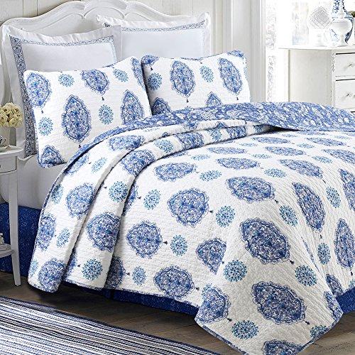 Cozy Line Home Fashions Wishing Tree Quilt Bedding Set, 100%