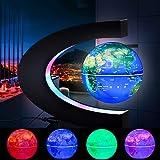 OWRORA Globo Flotante Lámpara de Escritorio de levitación magnética Luces LED Forma de C Mapa Educativo del Mundo…