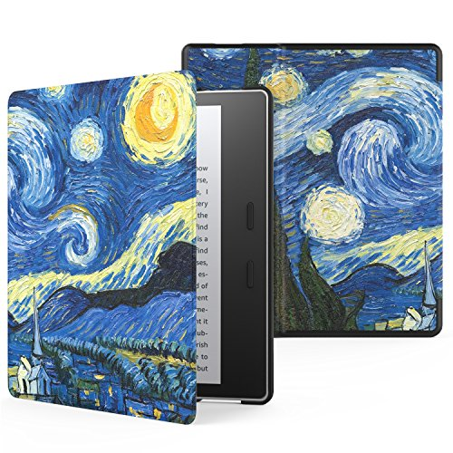 MoKo Case for All-New Kindle Oasis (9th Generation, 2017 Release) - Premium Ultra Lightweight Shell Cover with Auto Wake / Sleep for Amazon Kindle Oasis E-reader Case, Starry Night