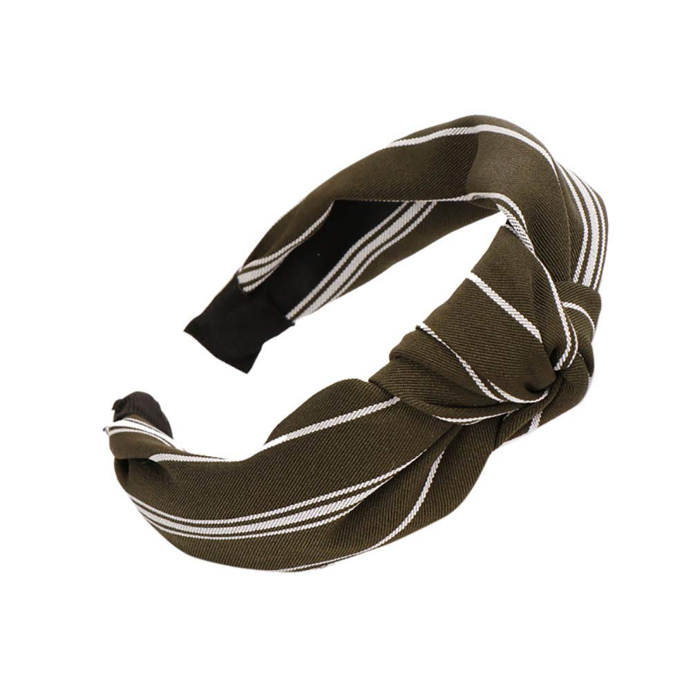 aliveGOT Headband For Women,Teens Daily Fashion Stylish Knot Turban Elegance Hairband Headwear Hair Holders Hair Clasp Head Wrap Accessory (Coffee)