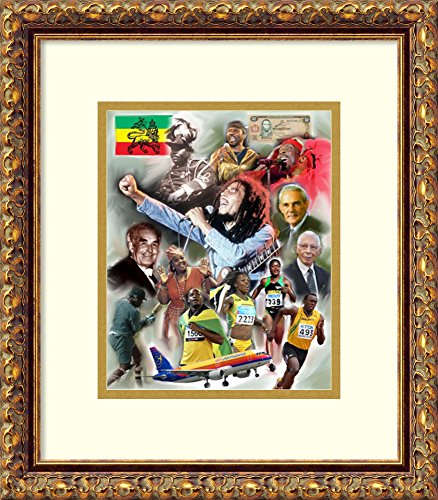 Framed Art Print 'Jamaica: Out of Many One' by Wishum Gregory (Print 1' Framed Art)