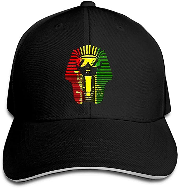 Jocper Gorra Tipo sándwich Rey Egipcio Reggae Africano Gorra de ...