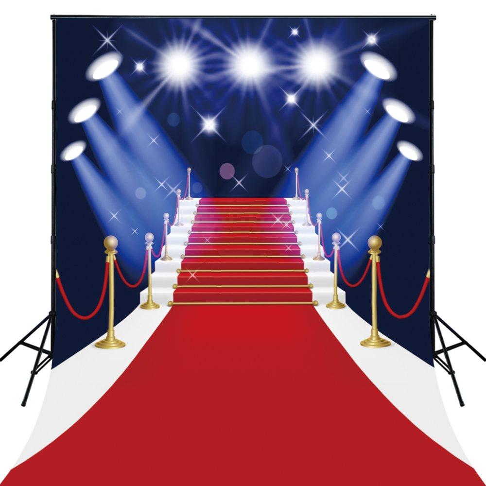 150x220cm sfondo per la festa di Hollywood Live Show Fotografia video Red Stage Background Foto puntelli D-4123 Xintai Huayi Photo LTD 200301020331