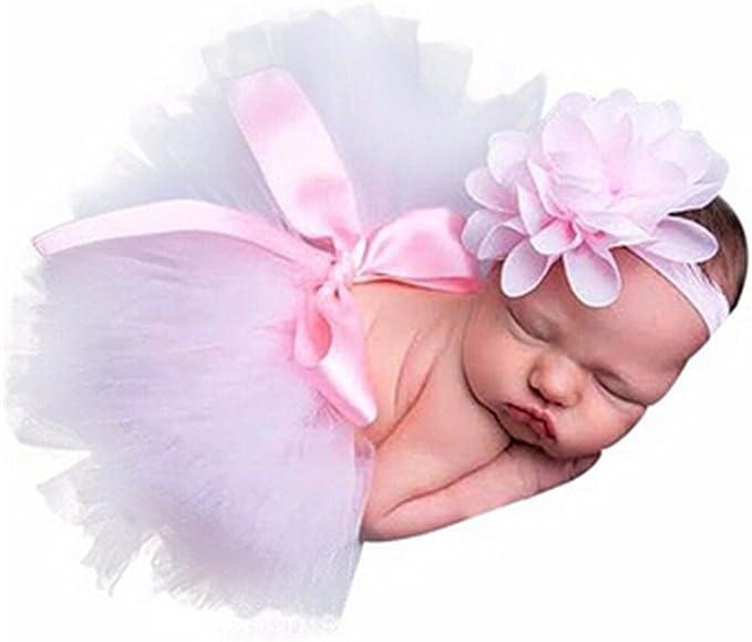 Neugeborenes Baby Mädchen Tutu Rock Stirnband Boutique Fotoshooting ape eNwr Ksy