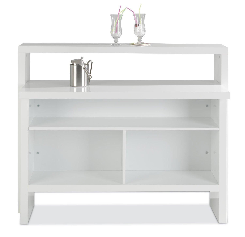 Hausbar Bar Minibar Scully | Weiß Hochglanz | (B/H/T) 130x110x50 cm ...