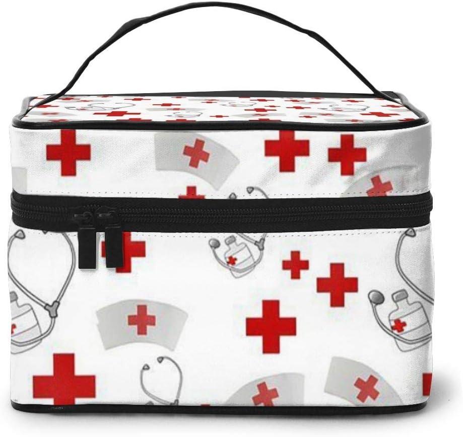 Bolsa de cosméticos de enfermería con Bolsillo de Malla para Mujer: Amazon.es: Equipaje
