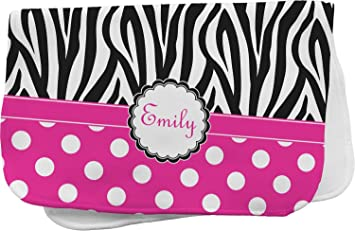 4d8874e2c Image Unavailable. Image not available for. Color: Zebra Print & Polka Dots  Burp Cloth ...