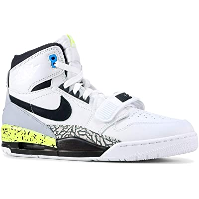 Nike Mens Air Jordan Legacy 312 NRG Just Don White/Black-Volt | Basketball