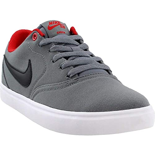 caaefb9d5f4 Nike Mens SB Check Solar Canvas Grey Black University Red Wht Size 10  Buy  Online at Low Prices in India - Amazon.in